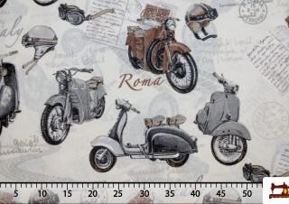 Tissu de Motos Vespa Classiques