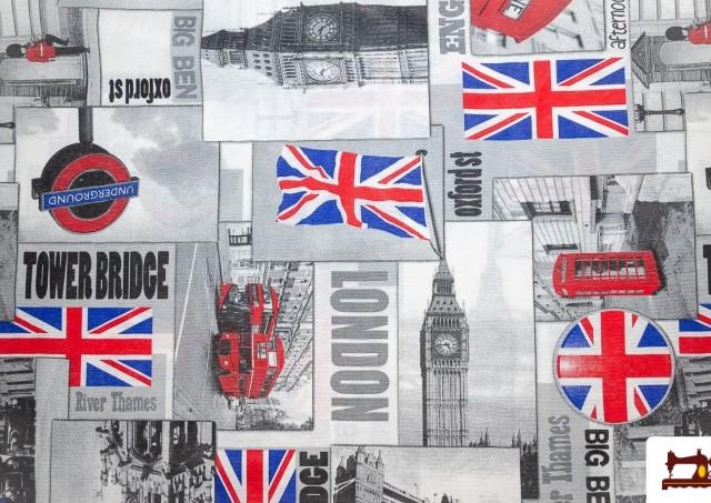 Tissu de Canvas Iconographie Britannique - Londres