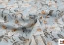Acheter en ligne Tissu avec Imprimé Floral pour Décoration couleur Bleu