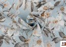 Vente en ligne de Tissu avec Imprimé Floral pour Décoration couleur Bleu