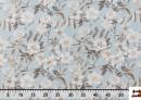 Acheter Tissu avec Imprimé Floral pour Décoration couleur Bleu