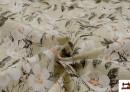 Vente de Tissu avec Imprimé Floral pour Décoration couleur Vert