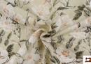 Acheter en ligne Tissu avec Imprimé Floral pour Décoration couleur Vert