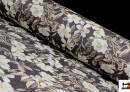 Vente de Tissu avec Imprimé Floral pour Décoration couleur Brun