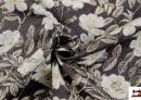 Tissu avec Imprimé Floral pour Décoration couleur Brun