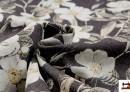 Acheter Tissu avec Imprimé Floral pour Décoration couleur Brun