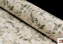 Vente en ligne de Tissu avec Imprimé Floral pour Décoration couleur Vert