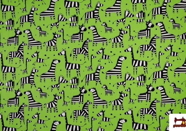 Tissu de T-shirt avec Girafes