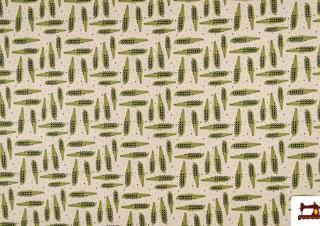 Tissu de T-shirt Imprimé avec Crocodiles