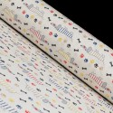 Tissu en Canvas Imprimé avec Chiens