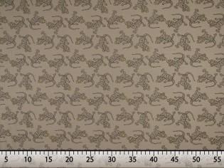 Tissu de Sweat Fin avec Imprimé Salamandres