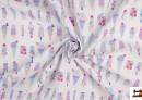 Tissu en Coton Imprimé Glaces