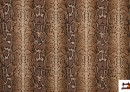 Tissu en Canvas Animal Print (serpent) couleur Brun