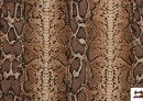 Vente de Tissu en Canvas Animal Print (serpent) couleur Brun