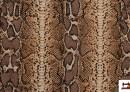Tissu en Canvas Animal Print (serpent)