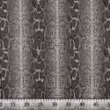 Tissu en Canvas Animal Print (serpent) couleur Gris