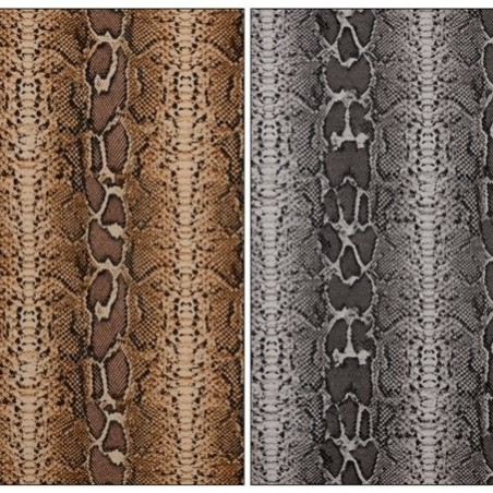 Tissu en Canvas Animal Print (serpent)