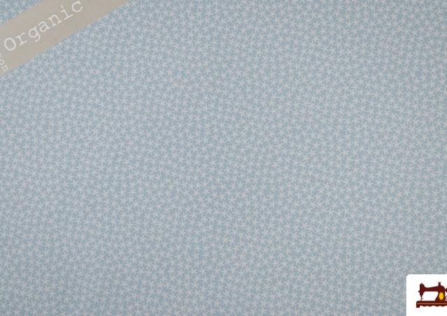 Tissu en Coton Organique Imprimé Étoiles