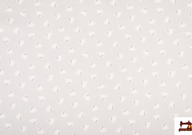 Tissu en Coton Infantile Imprimé avec Lapins