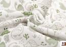 Tissu Piqué avec Imprimé Infantile de Dinosaures