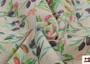 Vente en ligne de Tela de Loneta con Estampado de hojas de olivo