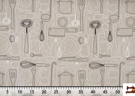 Tissu de Canvas Imprimé avec Service de Table