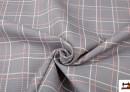 Tissu de Matériau Reciclé pour Tapisserie et Décoration à Carreaux
