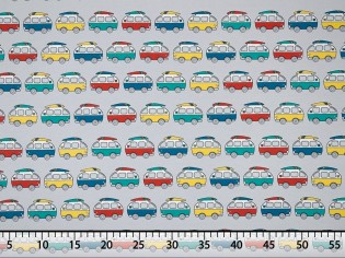 Tissu de T-shirt imprimé avec Fourgonnettes VW