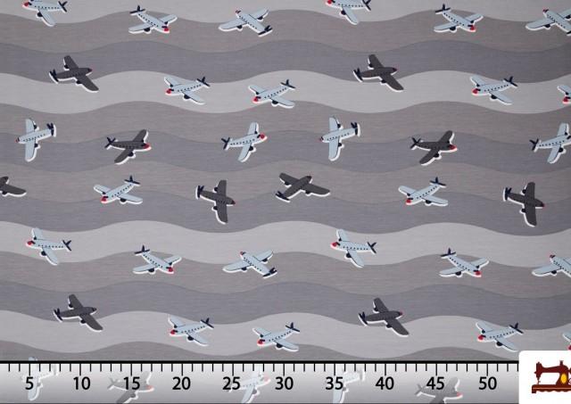 Tissu de Tee-Shirt Imprimé avec Avions