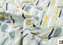 Tissu de Tee-Shirt Imprimé avec Animaux de la Forêt
