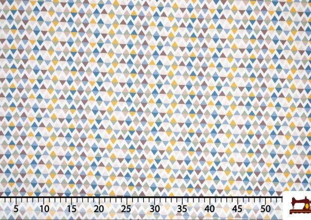 Tissu de Tee-Shirt Imprimé avec Motifs Géométriques