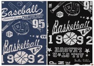 Tissu Imprimé avec Motifs Sportifs Américains pour Décoration