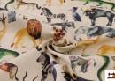 Tissu en Coton avec Imprimé Digital d'Animaux de la Jungle