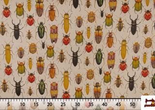 Acheter Tissu Imprimé avec Insectes
