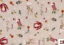 Acheter Outlet - Tissu en Canvas Imprimé avec Motifs de Noël