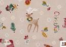 Vente de Outlet - Tissu en Canvas Imprimé avec Motifs de Noël
