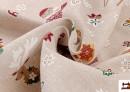 Vente en ligne de Outlet - Tissu en Canvas Imprimé avec Motifs de Noël