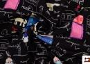 Tissu en Softshell avec Imprimé Infantile