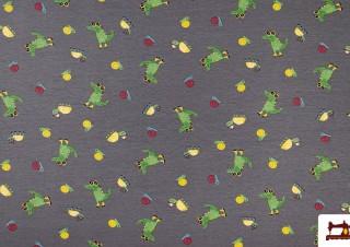 Tissu de Sweat avec Imprimé Crocodiles
