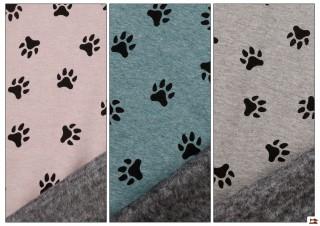 Tissu pour Sweat Imprimé avec Empreintes