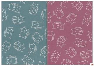 Tissu pour Tee-Shirt avec Chats