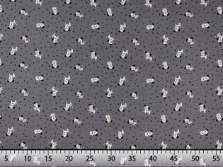 Tissu Maille de Tee-Shirt Imprimé Souris