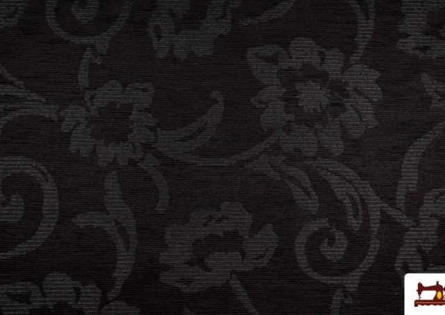 Outlet -Chenilla Para Tapizar Color negro.
