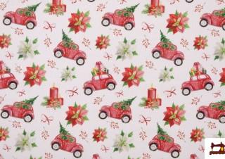 Tissu de Décoration de Noël Imprimé