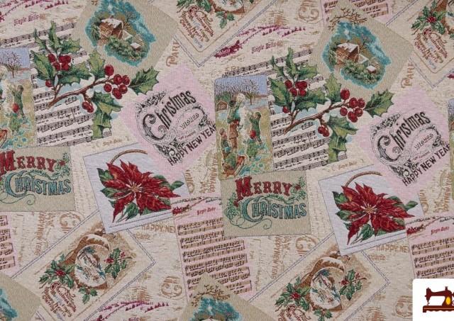Acheter Tissu pour Tapisserie en Gobelin avec Imprimé Noël