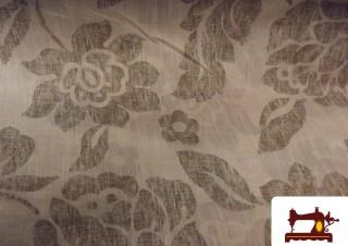 Tissu en Lin et Polyester Imprimé Floral