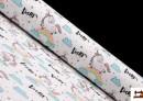 Tissu Anti-Tâches Imprimé avec Licornes