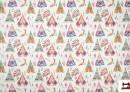 Acheter Tissu en Popeline Imprimé avec Tentes d'Indiens