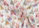 Acheter en ligne Tissu en Popeline Imprimé avec Tentes d'Indiens