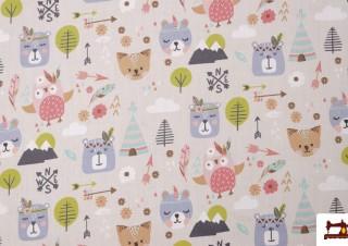 Tissu en Coton avec Imprimé Infantile